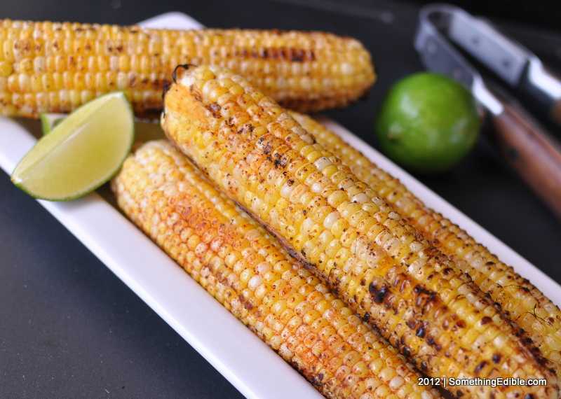 Chile Lime Grilled Corn on the Cob - Something Edible