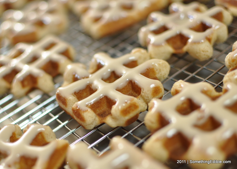 Pennsylvania Dutch Cinnamon Waffle Cookies With Maple Glaze Something Edible