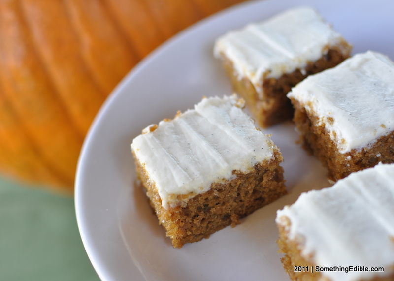 ... Bars with Bourbon and Vanilla Cream Cheese Frosting - Something Edible